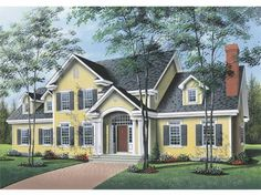 Eplans Traditional House Plan - Three Bedroom Traditional - 4183 Square Feet and 3 Bedrooms(s) from Eplans - House Plan Code HWEPL65212