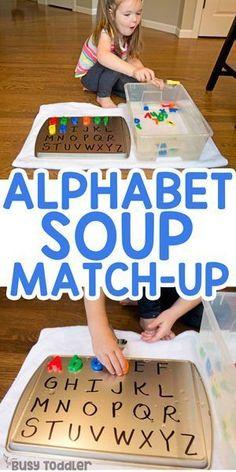 Alphabet Soup Sensory Activity for Kids - Busy Toddler