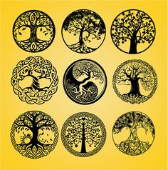 Life of tree tree cut file tree cut out tree dxf vector