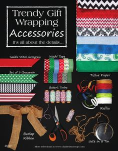 Check out our trendy gift wrapping accessories.