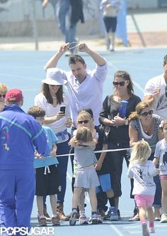 Ben Affleck, Jennifer Garner and Violet cheered Seraphina on at her track meet   Click for cute family pics!