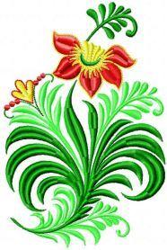 Flower decor free machine embroidery design. Machine embroidery design. www.embroideres.com