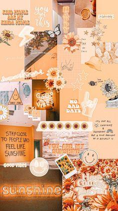 Iphone Wallpaper Vsco, Iphone Wallpaper Tumblr Aesthetic, Iphone Background Wallpaper, Aesthetic Pastel Wallpaper, Galaxy Wallpaper, Aesthetic Wallpapers, Orange Wallpaper, Summer Wallpaper, Retro Wallpaper