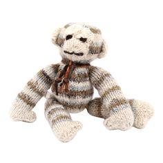Nubby woolen monkey.