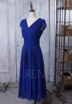 2015 New Bridesmaid dress Dark Blue Wedding dress by RenzRags