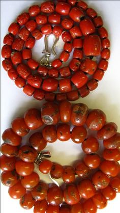 Spirited Large Chinese Carved Angel Skin Coral Dragon Bead Necklace China