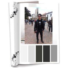 Paleta de color: Colores Fríos  (Negro, gris y blanco) Ropa: Jeans,camiseta estampada, chaqueta de cuero y tenis. Accesorios: Cangurera y tenis. Su estilo descomplicado y rockero es acompañado con un estampado animado