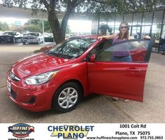 #HappyAnniversary to Kayla Dorr on your 2013 #Hyundai #Accent from Eric Stovall at Huffines Chevrolet Plano!