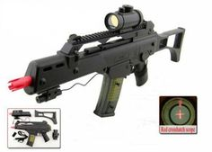 M41GL++ Assault Rifle Electronic Sight, 280 FPS, Red Dot, Shoulder Strap by Double Eagle. $34.95. This is an outstanding Airsoft gun. Very life like with a solid look and feel. Full scale 1/1 size airsoft spring rifle replica Velocity: 260fps using 0.12g BB, 200 fps using 0.20g BB Up to 35meter rangeSpring operated Length: 72cm Constructed from tough black and clear ABS anti-shock resin plastic Transparent 21BB magazineInternal weights for increased sturdiness Rem...
