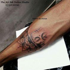 Buddha mandala tattoo design Artist :Ketan Patel - The Art Ink Tattoo Studio - Buddha Tattoo Design, Buddha Tattoos, Buddha Tattoo Frau, Buddhist Symbol Tattoos, Hindu Tattoos, Mandala Tattoo Design, Body Art Tattoos, Mandala Tattoo Sleeve, Tattoo Sleeve Designs