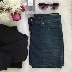 "Armani Jeans Denim Mini Skirt 4 Dark wash denim mini skirt by Armani. Traditional zip and button closure. Waist measures 15"" flat, length 12.75"". 98% cotton, 2% elastaine for a perfect fit. Like new. Armani  Skirts Mini"