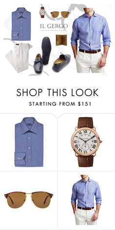 """""""Seby horse blue, Il Gergo"""" by paolo-rossi on Polyvore featuring Tom Ford, Cartier, Persol, men's fashion e menswear"""