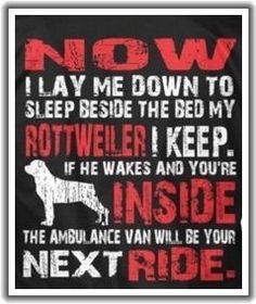 A Rottweiler truth