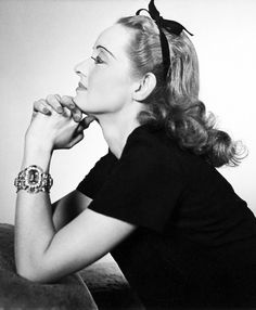 """theclutteredclassicattic: """"Bette Davis photographed by Louise Dahl-Wolfe, 1938 """" PROFILE"""