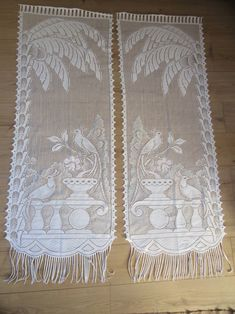 White old Lace Curtains Lace Curtains old window curtains pair French vintage fabric pair antique curtains curtains white vintage