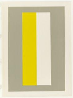 "John McLaughlin- Untitled April 8-17"" 1963 lithograph MoMA"