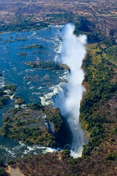 Victoria Falls (place) on CircleMe. Find comments, news, stories, videos and more about Victoria Falls on the Victoria Falls community of CircleMe Beautiful Waterfalls, Beautiful Landscapes, Paises Da Africa, Zimbabwe Africa, Places To Travel, Places To See, Chutes Victoria, Chobe National Park, Victoria Falls