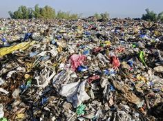 This is where your clothes end up after you throw them away. It's piling up and affecting the environment!