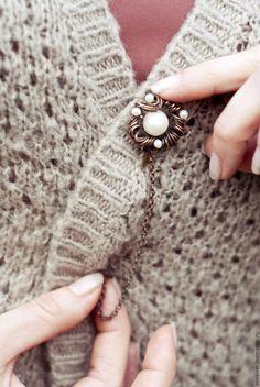 Pin, Булавка для шарфа - белый, булавка, булавка декоративная, заколка для шали, заколка для шарфа