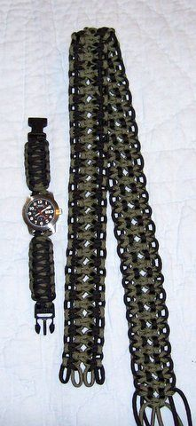 Paracord Belt or Gun Sling. and watch