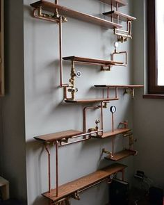 Shelves by EverWoodStudio #steampunktendencies #steampunk #shelves #interiordesign #architecture