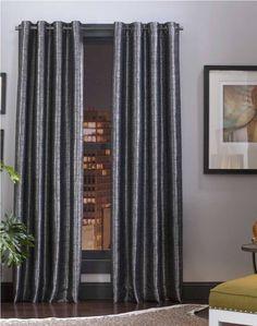 grommet curtains bay window