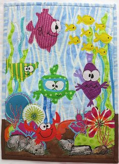 Under the Sea. Could be good DYI project to process all the pieces of fabrics you don't know what to do with ;-)