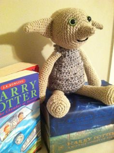 "Omgosh crochet Dobby!!! Would this count as""house"" elf on a shelf? Lol"
