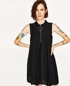 Image 2 of SHORT PLEATED JUMPSUIT from Zara