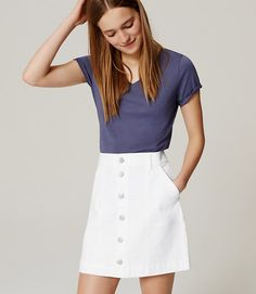 Image of Button Down Denim Skirt, 83$