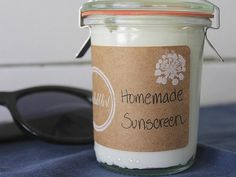 Make your own sunscreen with beeswax.