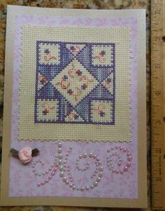 FLORAL GEOMETRIC Handmade Cross Stitch by CraftyCrossStitches, $8.00