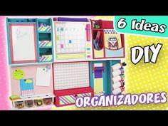 6 IDEAS DE ORGANIZADORES de Escritorio para la PARED - Modulares | Manualidades aPasos - YouTube