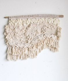 woven macrame tapestry