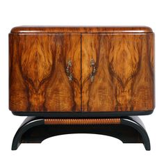MOBILE BAR GIRADISCHI BRIAR Art deco 'bar cabinet record player console MA S54