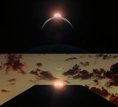 """2001: A Space Odyssey (1968, dir. Stanley Kubrick) """"A film is, or should be, more like music than like fiction. It should be a progression of moods and feelings. The theme, what's behind the emotion, the meaning, all that comes later."""" -Stanley Kubrick"""