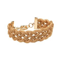 Braided Mesh Bracelet, Rose Gold
