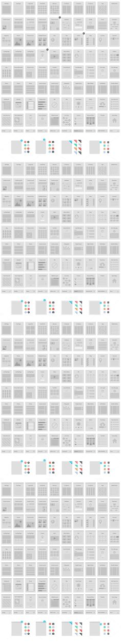 A website wireframe kit for Adobe Illustrator.