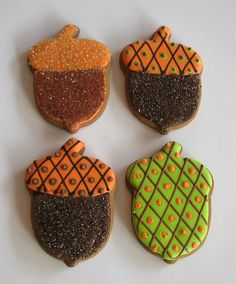 Awesome acorn cookies for the fall, OR more importantly if you're an Alpha Gam, for recruitment or to tell your sisters how much you love them. I have Amazing sorority sisters!