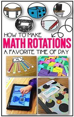 tons of ideas for math rotations. Saving for kindergarten, first grade, second grade, third grade