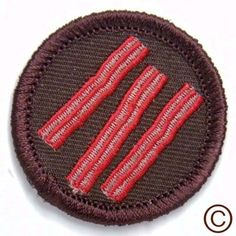 $4 Awesome demerit merit badges / patches Bacon VW Sunset Tent Coffee
