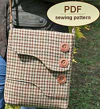 Melford messenger Bag pattern by Charlies Aunt