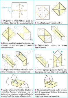 Crea l'origami scatola con coperchio - Creare con la carta