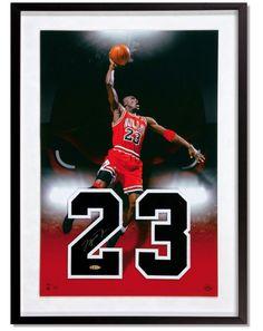 4933b3adcf3 Michael Jordan Hand Signed Autographed Hand Print Framed Bulls Tegata UDA   123