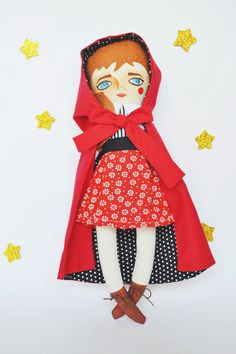 Little Red Riding Hood a doll based on the classic childrens story.  A beautiful gift for your friends or as decoration in a special place in