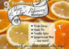 Stovetop Potpourri | I love adding fragrance to my house... especially by baking but I don't always have time to...
