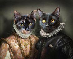 Animal Welfare League, Dog Artwork, Unique Animals, Weird Art, Dog Portraits, Pet Clothes, Animal Paintings, Cat Art, Cat Lovers
