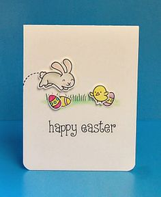 Lawn Fawn - Happy Easter _  Easter Card by Lynnette for Lawn Fawn Design Team