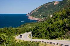 Cabot Trail in Cape Breton Island, Nova Scotia, Canada Atlantic Canada, Atlantic Ocean, Cabot Trail, Canada Travel, Canada Trip, Cape Breton, Nova Scotia, Great View, Photos