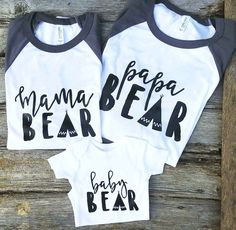 Mama Bear Graphic Tees  Family Bear Shirts  Mama by ThreeArrowsCo